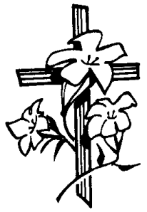 cross and lillies clip art